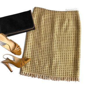 Trina Turk Metallic Tweed Skirt